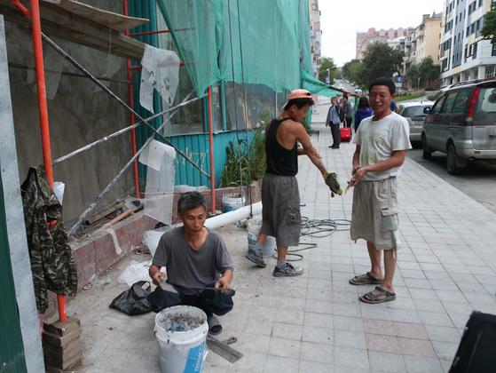 러시아에 파견된 북한 노동자. [중앙포토]