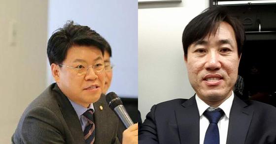 장제원 자유한국당 의원(왼쪽)과 하태경 바른정당 최고위원 [사진 페이스북]
