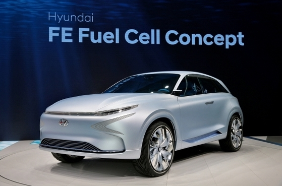현대자동차가 지난 3월 열린 '2017 제네바 모터쇼'서 공개한 'FE 수소전기차'