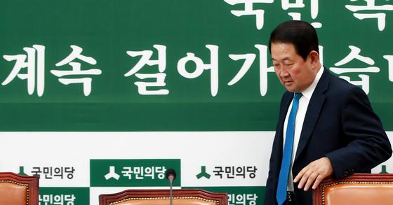 박주선 국민의당 비대위원장. 국민의당은 13일 국회 일정에 복귀하기로 했다. [연합뉴스]