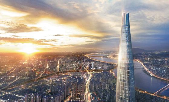롯데월드타워 시그니엘 레지던스는 지난 4월 그랜드 오픈한 롯데월드타워 지상 42~71층에 들어서는 주거시설이다. 입주민에게 글로벌 프레스티지 혜택과 서비스가 제공된다. 사진은 롯데월드타워 시그니엘 레지던스 투시도.