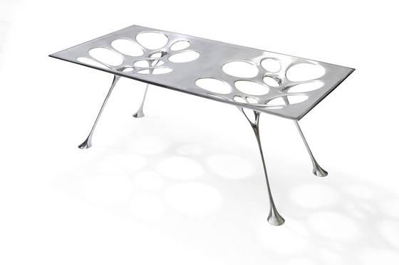 노일훈 작가의 가구들.알루미늄 테이블 'TABLE REX08'