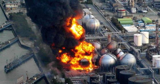 사고 당시 후쿠시마 원전 폭발 장면.