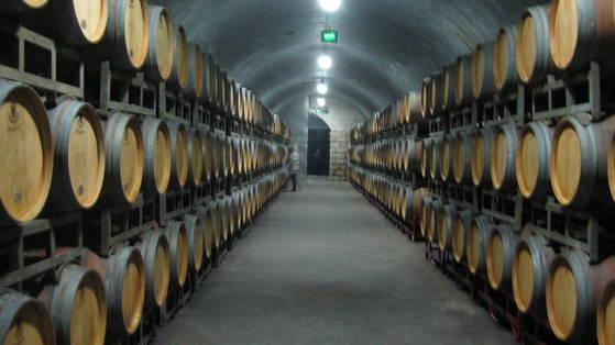 중국 최초의 와인업체인 옌타이 장위양조공사의 와인 수장고. 120여년이 지난 지금까지도 옛 모습 그대로 사용되고 있다.