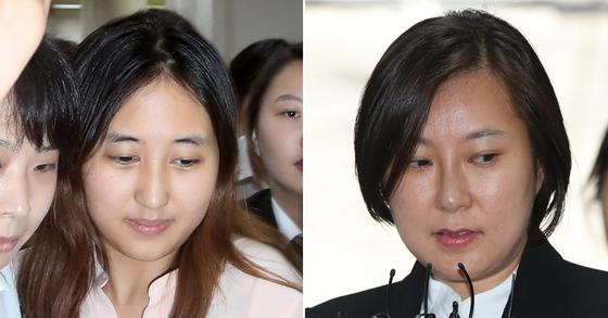 최순실씨의 딸 정유라(왼쪽)씨와 조카 장시호씨. [연합뉴스]