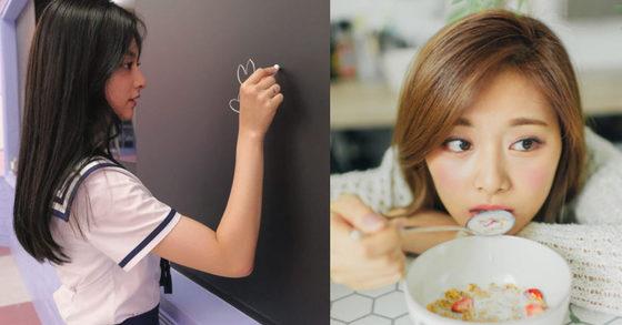 Mnet '아이돌학교' (왼쪽), 트와이스 트위터 (오른쪽)