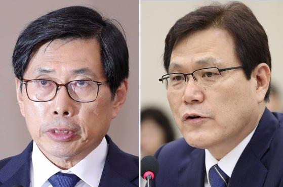 박상기 법무부 장관(왼쪽)과 최종구 금융위원장 [중앙포토], [연합뉴스]