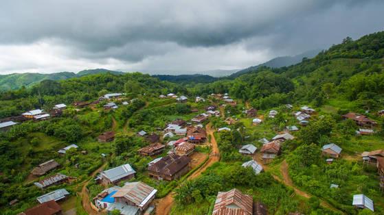판캄마을 전경.
