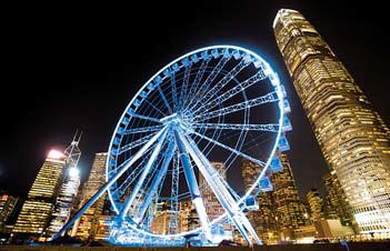 야경이 아름다운 홍콩의 번화가 모습. [사진 참좋은여행]