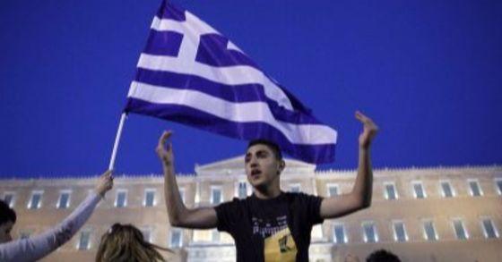 재정긴축에 항의하는 그리스인.