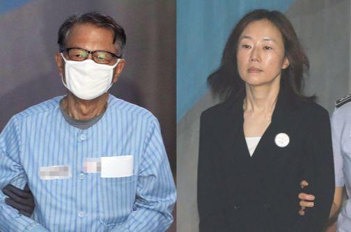 김기춘 전 대통령 비서실장, 조윤선 전 문화체육관광부 장관. [연합뉴스]