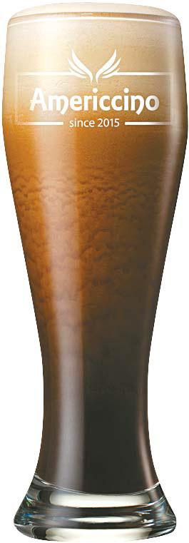 부드럽고 크리미한 에스프레소 거품에 진한 커피 풍미가 조화된 아이스 전용 커피 '아메리치노'. [사진 롯데지알에스]
