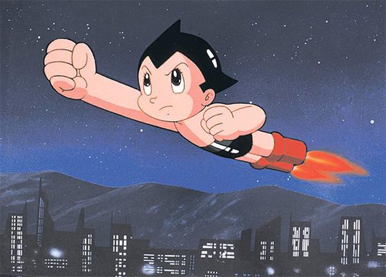 일본 애니메이션 '철완 아톰'. 1990년대 일본 문화가 정식 수입되기 전까지는 '우주소년 아톰'으로 통하며, 많은 사람에게 '국산' 취급을 받았다. [중앙포토]