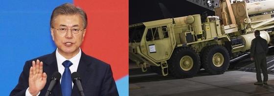 문재인 대통령은 29일 사드 발사대 4기의 추가 배치를 지시했다.