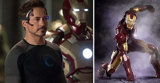 '아이언맨3' 스틸 이미지(왼쪽), '아이언맨1' 스틸 이미지