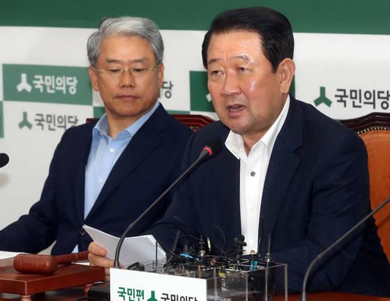 박주선 국민의당 비상대책위원장이 31일 국회에서 비상대책회의를 주재했다.강정현 기자