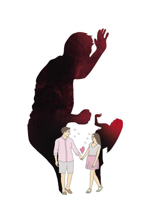 데이트폭력 일러스트 [중앙포토]