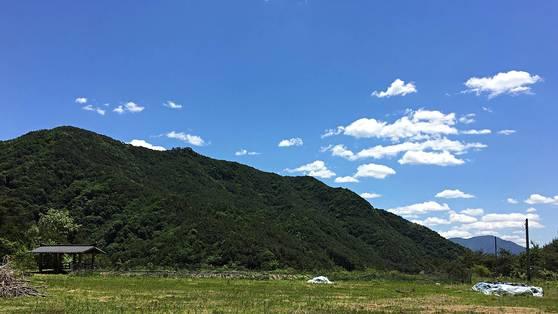 지난 3월, 나의 은퇴를, 귀촌을 환영하듯 포월침두 마당의 하늘이 맑게 열렸다. 이런 하늘 처음 보지? 미쳐야만 생존하는 세상에 살면서 어디 하늘 한 번 쳐다 보기나 했겠어? 한다. 하늘도 환영한 나의 은퇴라~ 기분이 좋았다. [사진 조민호]