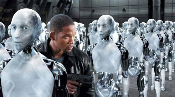 영화 '아이로봇'의 한 장면.