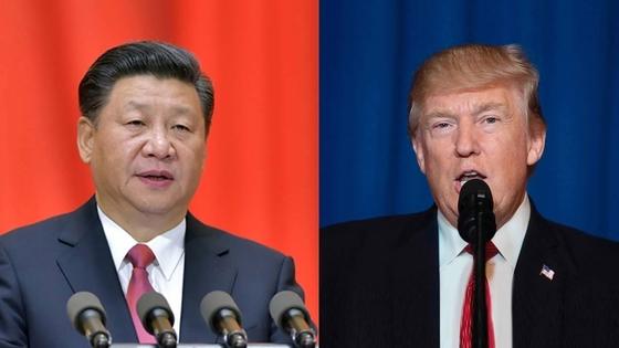 도널드 트럼프 미국 대통령(오른쪽)과 시진핑 중국 국가 주석.