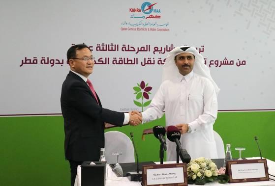 카타르 수전력청과 카타르 역대 최대 지중케이블 공사를 따낸 LS전선 [사진 LS전선]