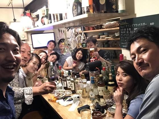 교토 여행에서 친구가 된 사람들. 이 중 두 명은 지금 서울에 와 있다.