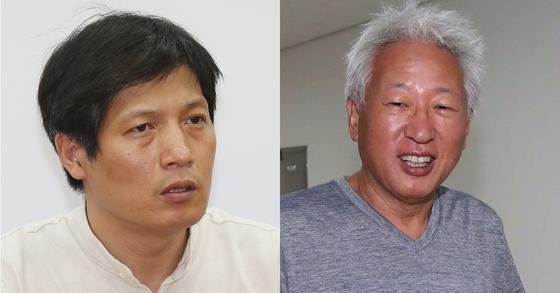 최해범 자유한국당 혁신위원(왼쪽)과 류석춘 혁신위원장. [연합뉴스]
