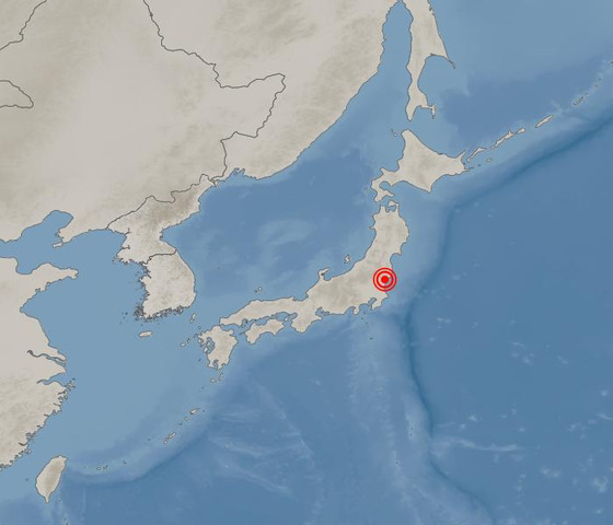 일본 이바라키(茨城) 현 북부에서 2일 오전 2시 2분께 규모 5.5의 지진이 발생했다. [사진 기상청 홈페이지]