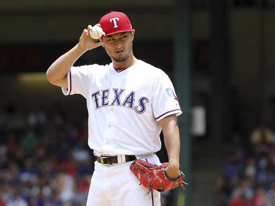 다저스가 텍사스에서 영입한 일본인 투수 다루빗슈 유. [AP=연합뉴스]