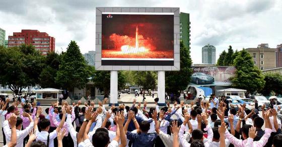 북한 미사일 자료사진. [연합뉴스]