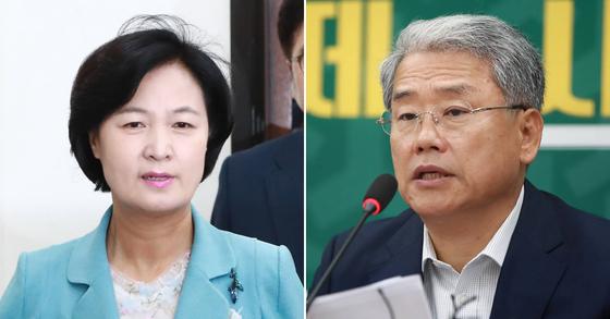 추미대 민주당 대표와 김동철 국민의당 원내대표. [연합뉴스]