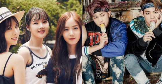 [사진 여자친구 공식 인스타그램(왼쪽), 방탄소년단 공식 홈페이지]