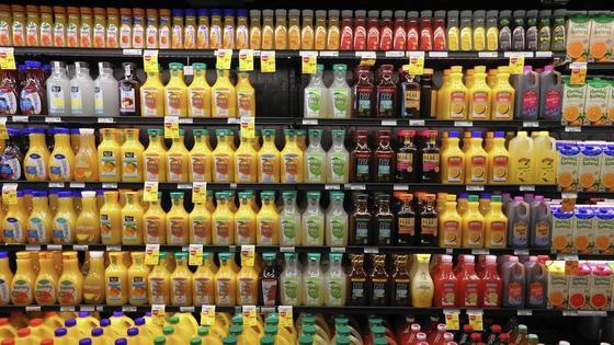 미국의 한 매장에 진열된 음료들. [사진 시카고트리뷴]