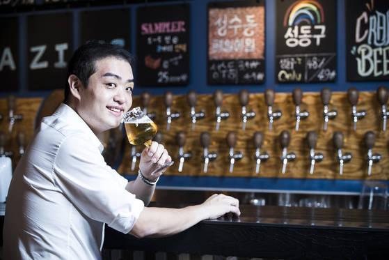 맥주 올림픽으로 불리는 세계맥주양조대회(NHC)에서 우승한 박상재(29) 어메이징 브루잉 컴퍼니 공동 창업자. 박종근 기자