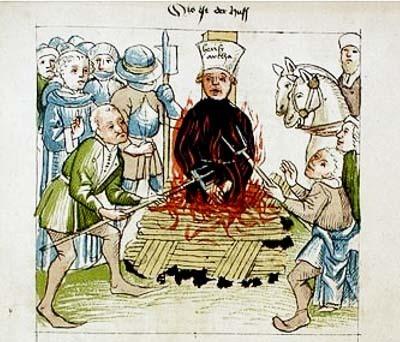 체코의 종교개혁가 얀 후스는 독일 남부 콘스탄스에서 화형에 처해졌다.