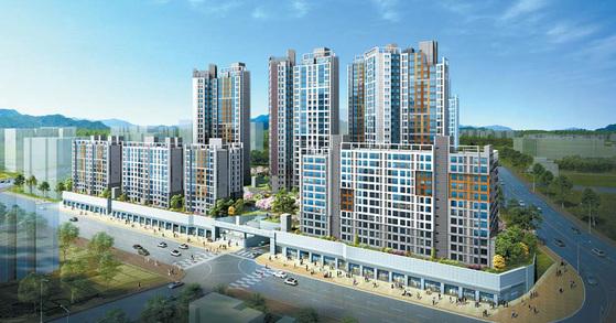 서울 가재울뉴타운에 들어서는 DMC에코자이는 소비자 선호도 1위의 자이 브랜드 대단지 아파트다. 사진은 DMC에코자이 투시도.