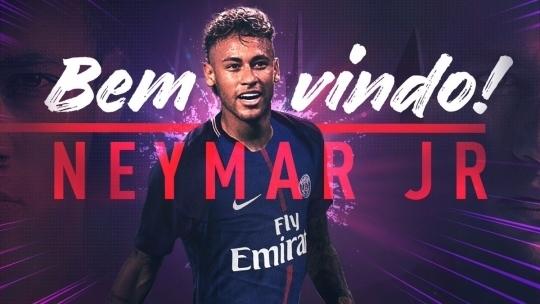 파리생제르맹은 4일 네이마르와 5년 계약을 맺었다고 발표했다. PSG는 네이마르 영입을 위해 역대 최고 이적료 2964억원과 함께 세계 최고연봉 600억원을 지불했다. [사진 파리생제르맹 홈페이지]