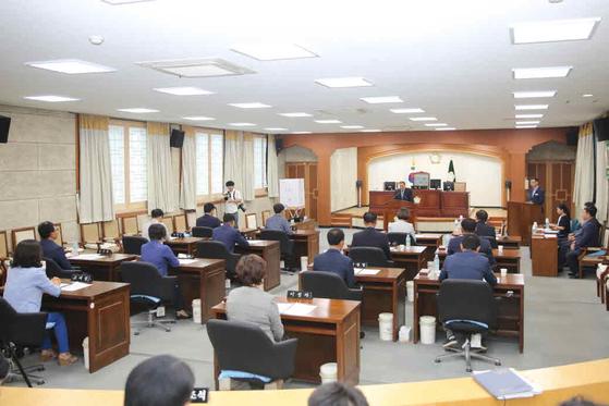 지난 3일 열린 제8대 김제시의회 개원 모습. [사진 김제시의회]