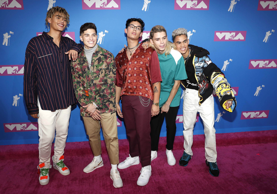 Pop band PRETTYMUCH. Photo from REUTERS(Andrew Kelly)=Yonhap