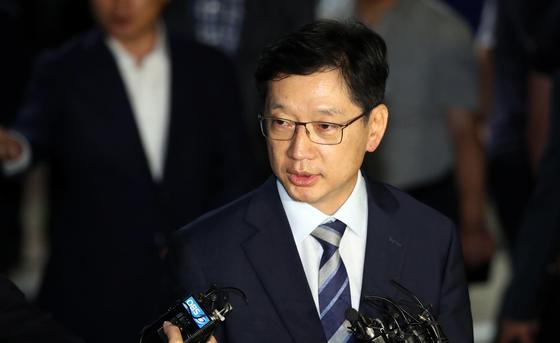 """김경수 변호인 """"특검 수사연장 포기…다행스럽게 생각한다"""""""