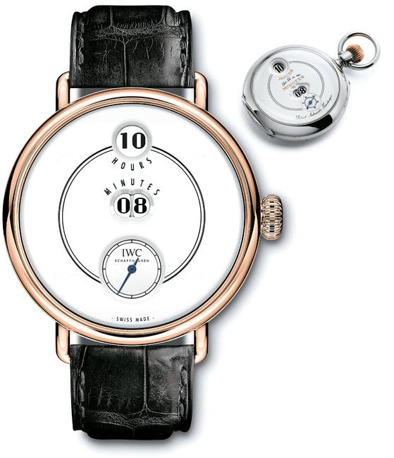 IWC 위 회중시계는 1884년에 제작된 '폴베버 포켓워치'이고, 아래 손목시계는 올해 1월 SIHH에서 처음 선보인 '폴베버 150주년 헌정 에디션'이다.