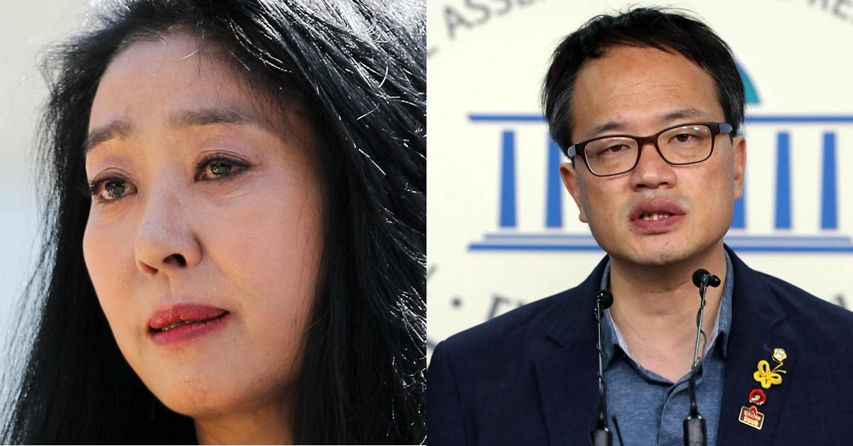 배우 김부선씨(왼쪽), 박주민 더불어민주당 의원. 박 의원은 김씨가 고(故) 장자연씨 전 소속사 대표 김모씨를 명예훼손한 혐의로 재판을 받을 당시 변호인이었다. [뉴스1·뉴시스]
