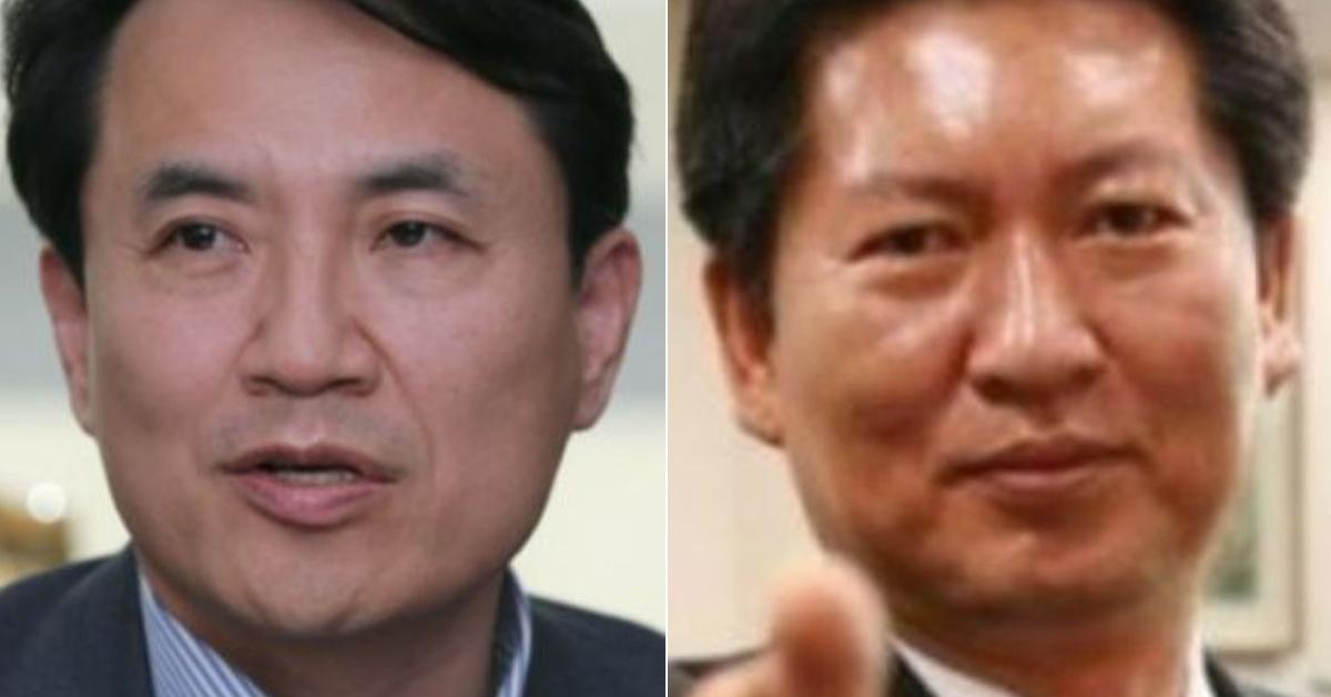 김진태 자유한국당 의원(왼쪽)과 정청래 전 더불어민주당 의원(오른쪽) [연합뉴스, 정청래 SNS]