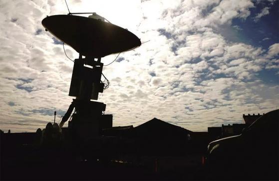 미국의 인공위성이 획득한 정보를 수신하는 이글비전 시스템 안테나. 북한은 미국의 위성 정찰을 기만하는 작전도 세웠다.