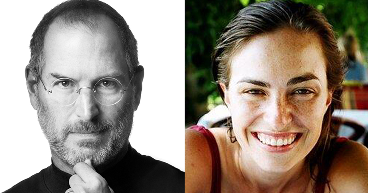 지난 2011년 암으로 세상을 떠난 스티브 잡스(왼쪽)과 그의 혼외딸 리사 브레넌 잡스(오른쪽) [애플 홈페이지 메인 화면, 리사 트위터=연합뉴스]