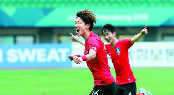 [속보] AG 남자축구, 한국 8강 '우즈벡전' 4-3 승리