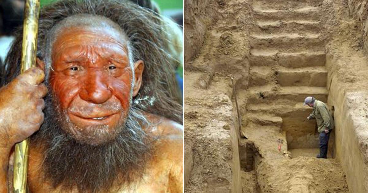 독일 박물관의 네안데르탈인 모형(왼쪽)과 네덜란드의 네안데르탈인 유적 발굴현장(오른쪽) [EPA=연합뉴스]