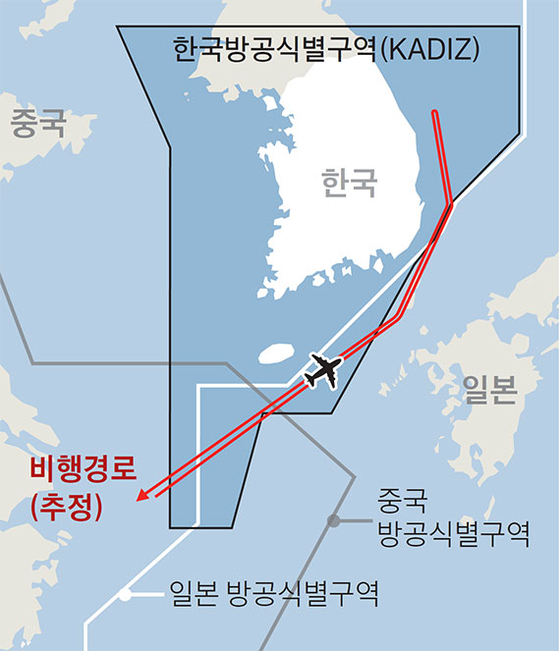 중국 군용기 한국방공식별구역 침범