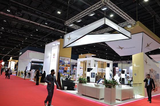 아랍에미리트 경제부가 매년 두바이에서 주최하는 중동 최대 투자유치 행사 AIM(Annual Investment Meeting). 지난 2017년 기준 25개 국가 80여개 스타트업이 이 행사에 참여했다. [사진 무역협회]