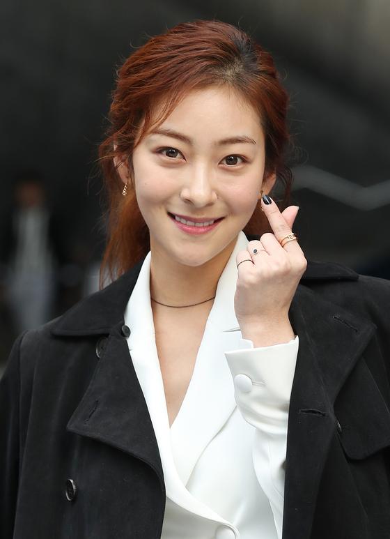 왕 청장의 딸인 배우 왕지원씨. [중앙포토]